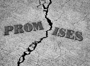 Broken Promise Concept