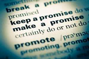 Keeping promise Dictionary Entry