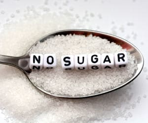 No Sugar Diet Concept