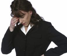 Image of woman in stress