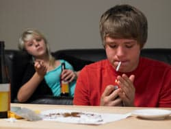 Teenagers smoking image