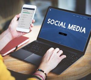 Social Media online Concept