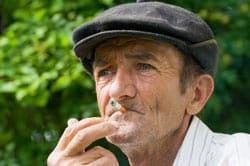 Senior Man Smoking Image