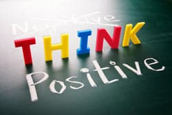Think Positive Concept Image