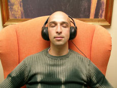Man Listening Music Image