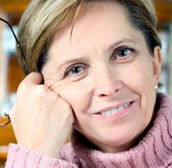 Mature Woman with Wrinkles concept image