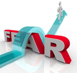 Overcoming Fear Concept Image