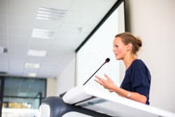 Woman Giving Presentation Image