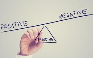 Positive Negative Thinking Concept