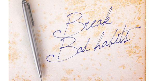 Break Bad Habits Concept Image