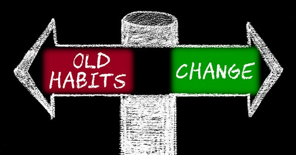 Hypnosis to Change Bad Habits Concept Image