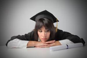 Sad Graduate Image