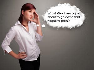 Negative Thoughts Bubble Image