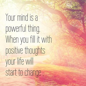 Positive Thoughts Quote Image