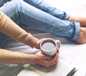 Coffee in Bed Concept Image
