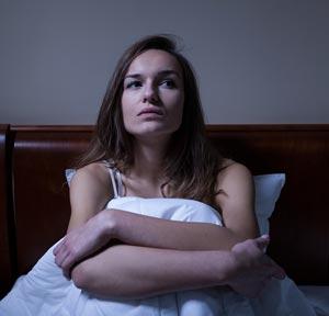 Insomnia Depressed Woman