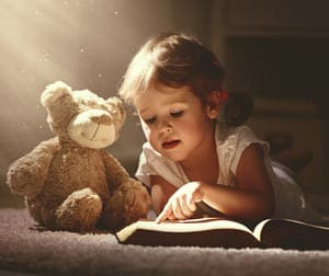 Child Reading Story Concept Image