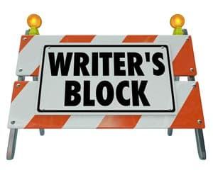 Writer's Block Sign