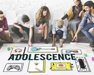 Adolescence Teenagers Concept Image