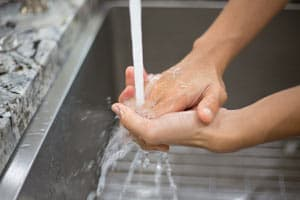 Compulsive Hand Washing Concept Image