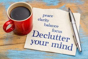 Clarity- Declutter Your Mind Concept Image