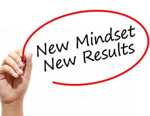new mindset new results concept image