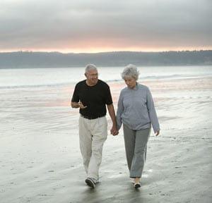 Senior Couple Walking Exercise Concept Image