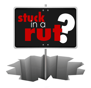 stuck in a rut sign image
