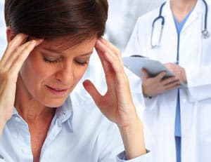 Woman Headache Diagnosis Image