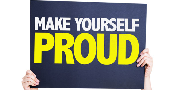 Make Yourself Proud Motivational Quote