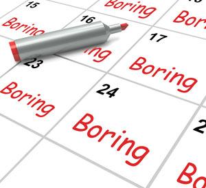 Boring Mundane Calendar Concept Image