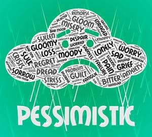 Pessimistic Word Cloud Image