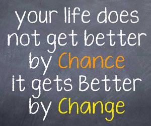 life change concpet