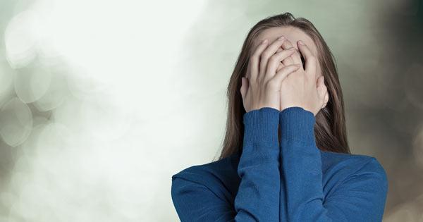 Woman feeling guilt or shame