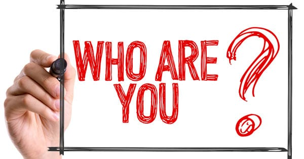 Who Are You hand written lettering using marker