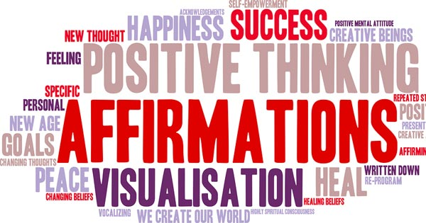 Affirmation wordcloud