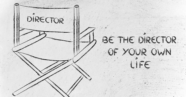 Director's chair with concept of directing your own life