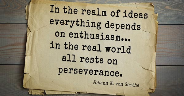 Goethe quote about perseverance