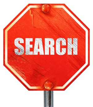 Stop searching sign