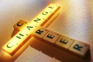 Change career wording with scrabble letters