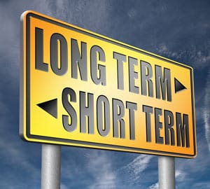 Long-term vs short-term goals sign