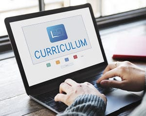 Online learning and education concept