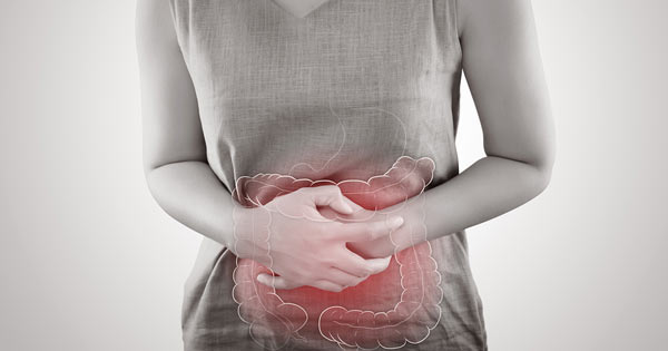 Young woman experiencing irritable bowel syndrome or other gut condition