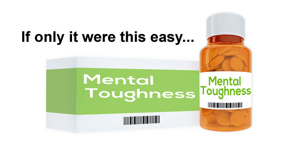 Mental toughness pills in a bottle