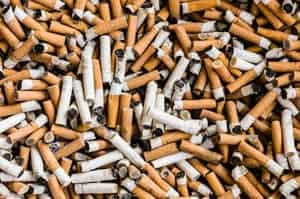 Photo of pile of cigarettes.