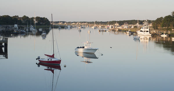 Tranquil bay scene in Dennis Cape Cod
