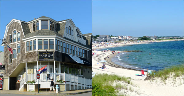 Scenes from Falmouth - Woods Hole Historic Building and Falmouth Heights Beach
