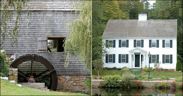 Dexter Grist Mill and Historic Colonial home in Sandwich MA