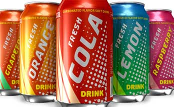 Image showing soda cans