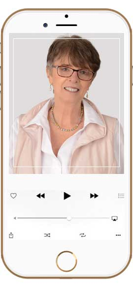 Image of iPhone with picture of Erika Slater on device screen